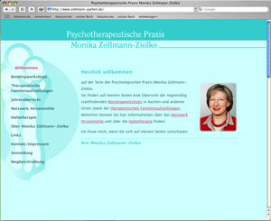 Website Psychotherapie M. Zollmann
